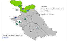 san jose district map city of san jose district 4