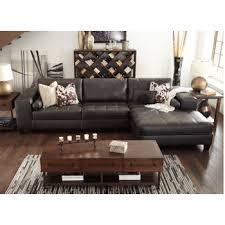 Laf Sofa Sectional Nokomis Charcoal 2 Pc Laf Sofa Sectional 87701 66 17