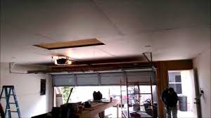 garage sheetrock installation youtube