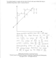 slope triangles students are asked to use similar triangles to