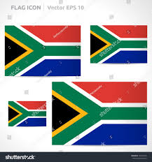 Blue Yellow And Black Flag South Africa Flag Template Vector Symbol Stock Vector 145492336
