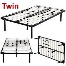 yaheetech twin size platform metal bed frame mattress foundation