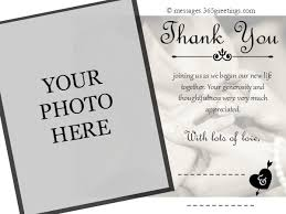 words for wedding thank you cards wedding thank you messages 365greetings