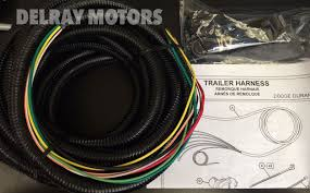 oem mopar 7 way connector trailer tow wiring harness 2014 dodge