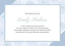 sympathy thank you cards customize 28 funeral thank you card templates online canva