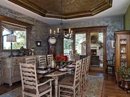 Dining Room Furniture Denver Colorado Mountain Territorial Style Rustic Dining Room