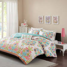 Full Size Comforter Sets Girls Full Size Comforter Set Coral Teal Blue Damask Pattern Kids
