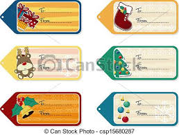 vector of christmas gift tags vector template set of six