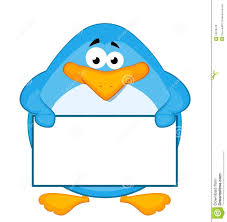 cartoon penguin with baner stock photo image 16978070
