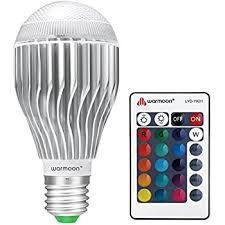warmoon e26 led light bulb 10w rgb color changing