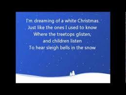 white christmas bing crosby lyrics youtube