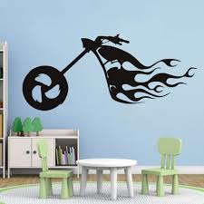 popular flame wall buy cheap flame wall lots from china flame wall flaming bike wall stickers motocross symbol art decals home decor for bedroom decoration removable self adhesive