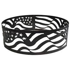 Firepit Rings P D Metal Works American Flag Pit Ring Pit Ideas