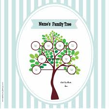 Free Family Tree Poster Customize Online Then Print At Home Family Tree Template