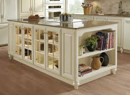 Kitchen Cabinets With Glass Kitchen Island Cabinet Unit In Ivory With Fawn Glaze And Glass