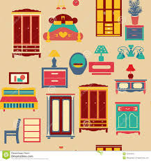 Retro Bedroom Furniture Sets by Seamless Pattern With Bedroom Set Furniture Illustration Stock