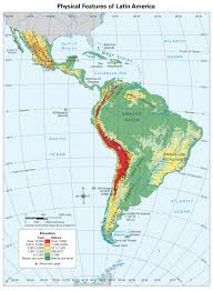 South America Map Labeled central america caribbean physical classroom map from academia