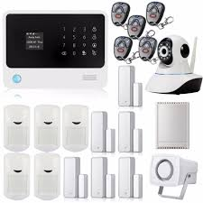 wifi gsm gprs wireless home security alarm system with ip camera