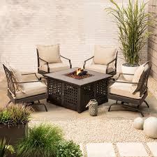 target fire pit table harper 5 piece metal patio fire pit set target deck pinterest