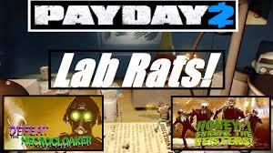 halloween lab payday 2 halloween 2015 heist lab rats gameplay overkill youtube