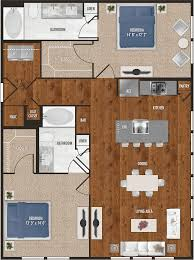 b2 two bedroom floor plan for alexan 5151
