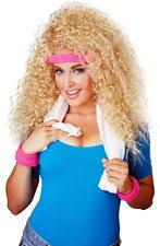 80s Workout Halloween Costume 80 U0027s Big Hair Curly Blonde Wig Hairspray Halloween Costume