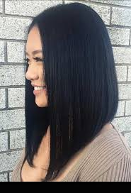 front and back views of chopped hair best 25 long angled bobs ideas on pinterest long angled haircut