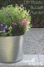 diy plastic bucket planter dragonfly designs