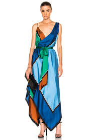 diane von furstenberg scarf hem tiered midi dress in arago fwrd