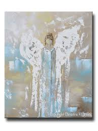 Angel Wing Wall Decor Original Angel Painting Abstract Guardian Angel Inspirational Wall