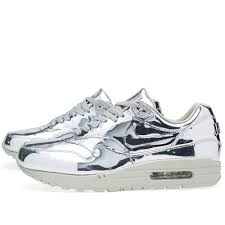 nike air silver nike air max 1 sp liquid silver holy moly these are cool wish i