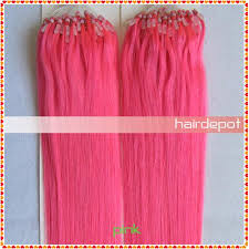 pink hair extensions 1 18 pink micro loop hair extensions remy silky soft 100