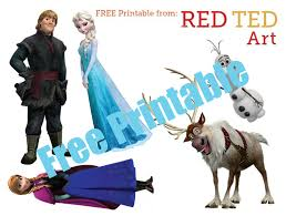 printable frozen images frozen characters free printable 2 red ted art s blog