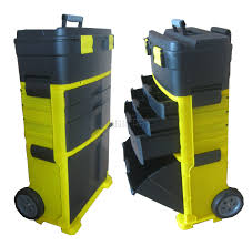 box cart foxhunter mobile roller work shop chest trolley storage tool box