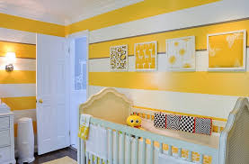 baby boy nursery ideas with yellow wall home interior design