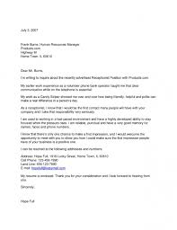 office receptionist cover letter no experience sample in 25