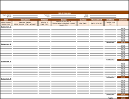 Bom Template Excel 8 Plus Bill Of Materials Exles And Sles
