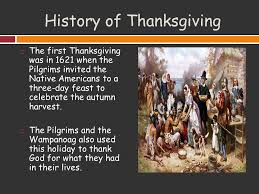 Pilgrims And Thanksgiving History Thanksgiving Ppt Video Online Download