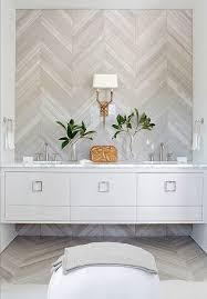 Bathroom Ottoman Storage Bathroom Chevron Wall Tile Wall Sconces Two Handle Faucet Wall