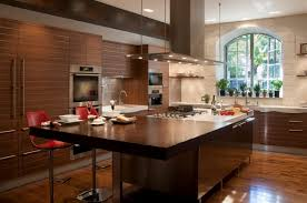 kitchen laminated wooden floor stainless steel kitchen island
