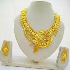 flower necklace designs images Asymmetrical gold plated necklace flower design statement gold jpg