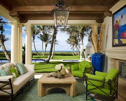 florida lanai with outdoor fireplace patio mediterranean and