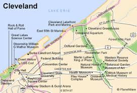 map of cleveland 11 top tourist attractions in cleveland planetware
