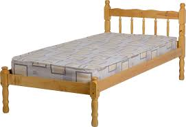 Solid Wood Bed Frame Nz Monaco 5 U0027 Bed Low Foot End White Corona Mexican Pine Corona