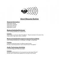 short resume sample personal resuem templates modern short 1 page
