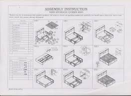 bed frames wonderful ikea malm frame assembly instructions
