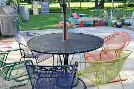 Metal Patio Chair How To Paint Metal Lawn Furniture Refresh Living