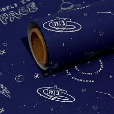 space wrapping paper dreidels in space wrapping paper