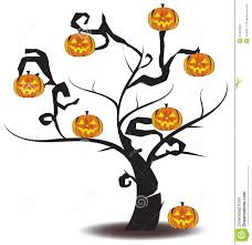 jack o tree halloween vector royalty free stock photo image