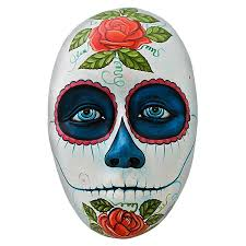 day of the dead masks ceramic figures day of the dead mask fam22